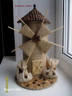 Kids Crafts, Diy Home Crafts, Arts And Crafts, Art N Craft, Craft Stick Crafts, Diy Art, Jute Crafts, Paper Crafts, Windmill Diy