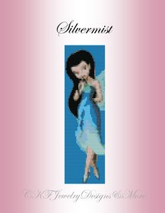 Silvermist Fairy Beaded Loom Cuff Bracelet by CKFJewelryDesigns