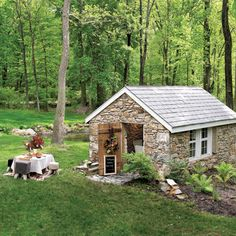 Tiny stone cabin/studio for crafts etc