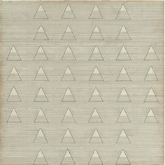 Artwork by Agnes Martin, Words, Made of ink on paper mounted on canvas