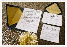 new year's eve wedding invitations  enveloppe
