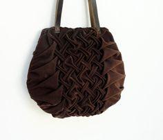 Smocks et plissé sac chocolat
