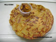 Vella Dosai - Jaggery Crepes- if vegan replace ghee with vegan butter or oil