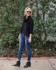 Answering one of my most-asked questions on the blog today What's the trick for wearing ankle boots with skinny jeans I shared my Do's & Don'ts  plus 4 ways to cuff any length jeans.  Also this sweater is so warm & cozy... and 40% off!  Find my outfit (including designer lookalike belt) here  http://liketk.it/2u2Bl  #sugarplumstyle #liketkit @liketoknow.it  @maryahafner