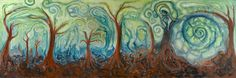 The Forest Through the Trees is based on dream imagery that has been repeating since my childhood. (Oil on Canvas) Art Portfolio, Abstract Landscape, My Childhood, Oil On Canvas, Trees, Artist, Painting, Image, Painted Canvas