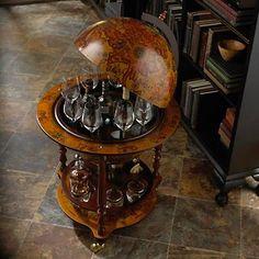 Italian Style Wine and Spirits Globe Bar