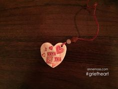 Heart on a string – #griefheart number 146-I can't free my heart from my baby. When he died by suicide, it…