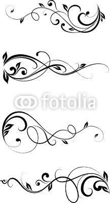 Vector: floral element