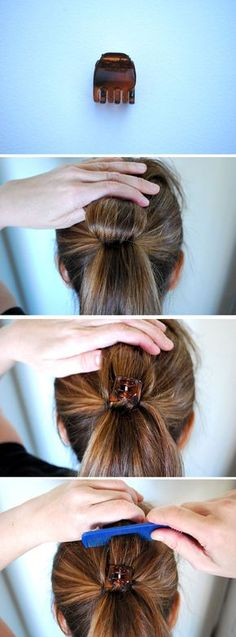 Easy trick to make your ponytail look fuller