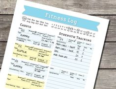fitness journals free printable - Google Search