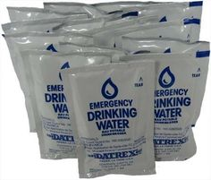 Datrex Emergency Water Packet - 3 Day/72 Hour Supply(12packets) $8.00