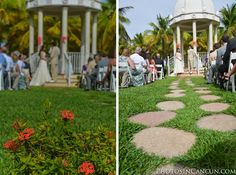 Ceremony at Riu Palace Riviera Maya gazebo - Weddings by RIU - All Inclusive hotel - Destination Wedding Mexico