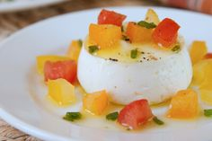 A savory goat cheese panna cotta is an incredibly easy and impressive appetizer for summer entertaining.