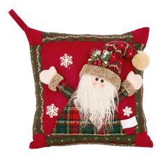 Picture of Christmas Santa Pillow Quilt Block Patterns, Pattern Blocks, Quilt Blocks, Ugly Christmas Sweater, Christmas Stockings, Indoor Christmas Decorations, Holiday Decor, Christmas Patchwork, At Home Store