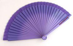 Éventail bois Poirier et toile - Violet/Mauve dégradé - Strass - Fan / Abanico : Autres accessoires par ladyplazza