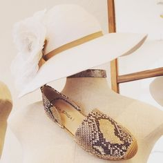 Oh hey there sassy python espadrille. She's the perfect summertime run-around shoe! @viaspiga @marlacookhats #betsykingshoes #betsyandmarla #paseoartsdistrict #thatsdarling
