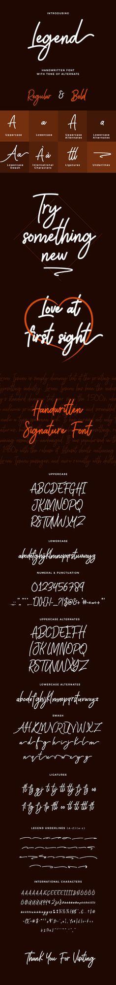 Legend Handwritten Font
