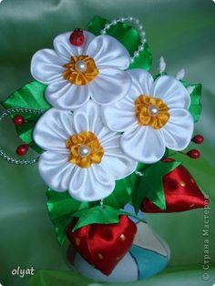Украшение Цумами Канзаши Новые цветочки Бусины Ленты фото 1