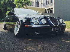 """Jaguar S-type """"Now THIS is different. What do you guys think? Yay or nay? Via @migs_garage  #loweredlifestyle"""""""