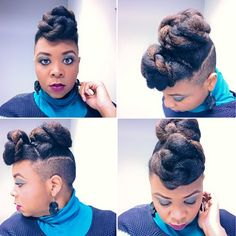 Striking #updo #naturalhairstyle Loved By NenoNatural! #naturalhair #curlyhair #kinkyhair #nenonatural #vlogger #blogger #hairblogger