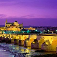 #Cordoba, was founded in 169 BC by the Romans and is as pretty as a picture. We ❤ #Spain.