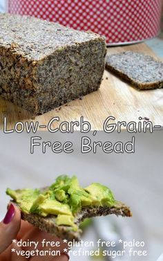 A low carb, grain free bread recipe that's made with only 6 key ingredients. It's paleo, vegetarian and free from dairy, grains, gluten and refined sugars.
