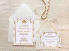 The Charleston 1920s Jazz Art Deco Wedding Invitations on Etsy, $21.08 CAD