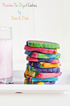 Rainbow Tie Dyed Sugar Cookies are a fun and festive cookie project to create with your kids!