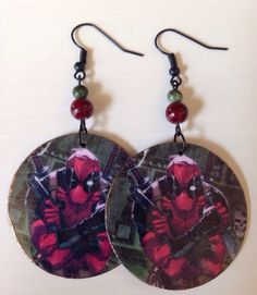 A personal favorite from my Etsy shop https://www.etsy.com/listing/244966484/sale-up-cycled-deadpool-earrings-cereal