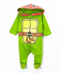 This Green TMNT Hooded Footie - Infant by Bentex is perfect! #zulilyfinds