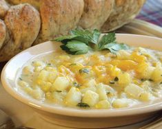 This Potato Corn Chowder Recipe is best when topped with cheddar cheese.data-pin-do=