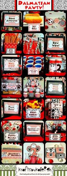 Dalmatian Party; Dalmatian Birthday Party; Dalmatian Party Decor; Party for 24 Printed, Cut and Shipped to you! This is the perfect PARTY