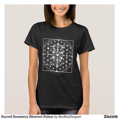 Shop Sacred Geometry Abstract Pulsar T-Shirt created by BeeBeeDeigner. Personalize it with photos & text or purchase as is! Unique T Shirt Design, Spring Shirts, Custom Clothes, Wardrobe Staples, Lounge Wear, Shirt Style, Shirt Designs, Trending Outfits, T Shirts For Women