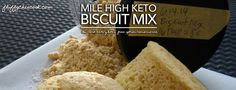 If you live a low carb keto lifestyle, you might find yourself missing bread and biscuits or the convenience they represent: breakfast biscuits and sandwiches, portable food choices, toppings for p...