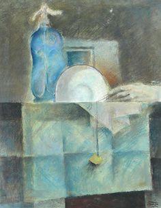 Viernes trece (1984) Pastel sobre papel - Raúl Alonso (Argentina 1923-1993)