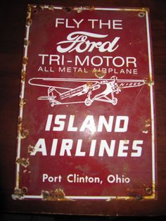 Old Ford Island Airplanes Porcelain Sign from $0.99