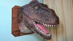 Post with 5819 votes and 374453 views. Tagged with , , , The More You Know, ; Shared by Paper mache T-Rex! Puppet Costume, Foam Carving, Dinosaur Head, Paper Mache Crafts, Paper Mache Sculpture, Dinosaur Birthday Party, Birthday Parties, Trunk Or Treat, Faux Taxidermy