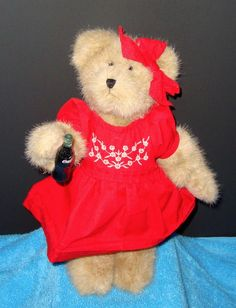 """The Coca-Cola Collection By Boyds Bears """"Cheryl"""" 10"""" Teddy Bear Stuffed Animal  #CocaCola"""