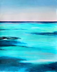 Original Acrylic Painting Abstract Seascape by NikiArdenFineArt,
