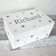 Personalised Children's Keepsake Memory Box. Hand by NorabellaUK