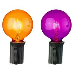 Halloween 25ct Globe Lights - Orange and Purple 12$at target