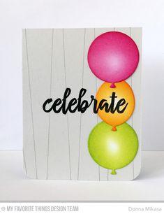 Big Birthday Balloons, Brushstroke Birthday Stamp Set, Wire Background - Donna Mikasa  #mftstamps