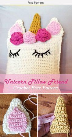Unicorn Pillow Friend Free Crochet Pattern