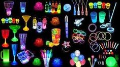 Great glow items for party theme.