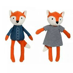 Have you met Felix & Mabel Fox? New to For Keeps from Lily & George they're a great gift for the little ones #lilyandgeorge #forkeepsstore #kidstoys #toyfox #fox