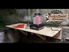 Keinen Platz Zuhause? Der hängende Klapptisch für meine Werkstatt - YouTube Espresso Machine, Coffee Maker, Kitchen Appliances, Outdoor Decor, Youtube, Home Decor, Fold Away Table, Work Shop Garage, Ad Home
