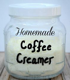 Get rid of all the extra unhealthy additives by making your own yummy Homemade Coffee Creamer.for your family members that do use creamer. Homemade Dry Mixes, Homemade Spices, Homemade Seasonings, Homemade Butter, Homemade Coffee Creamer, Powdered Coffee Creamer Recipe, Healthy Coffee Creamer, Do It Yourself Food, Comida Keto