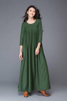 Robe en laine longue robe en laine robe femmes robe