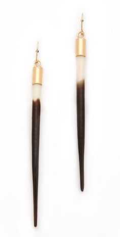 Kristen Elspeth | Small African Quill Earrings