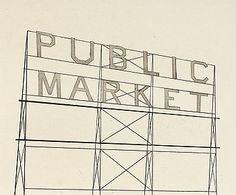 "176. ED RUSCHA, ""Public Market""."